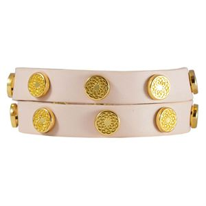 Picture of Blush Leather Wrap with Gold Studs